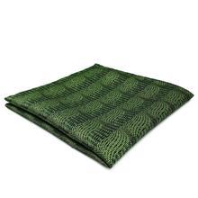 DH05 Deep Green Abstract Mens Pocket Square Silk Fashion Novelty Handkerchief Dress Hanky