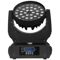 2pcs/lot LCD display RGBWY UV 36*18W 6 in 1 led zoom moving head wash light with double flight case|Stage Lighting Effect|Lights & Lighting -