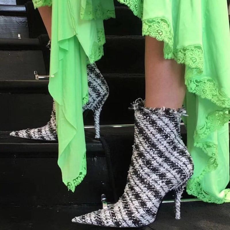 Gladiateur Piste Hauts Stiletto Chaussures Soirée Pic Grille Noir Pointu Bottines De Bottes Rouge Bout À Femmes as Talons Pic As Pour EDI92WH