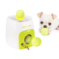 Automatic Interactive Fetch Ball Tennis Launcher Ball Rolls Out Machine Launching Fetching Balls Dog Training Tool