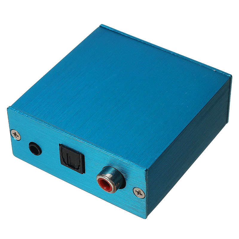 CLAITE Portable Sound Card Decoder Board USB DAC Module USB To S/PDIF Coaxial Coaxial Fiber Optic Output With Aluminum Box New
