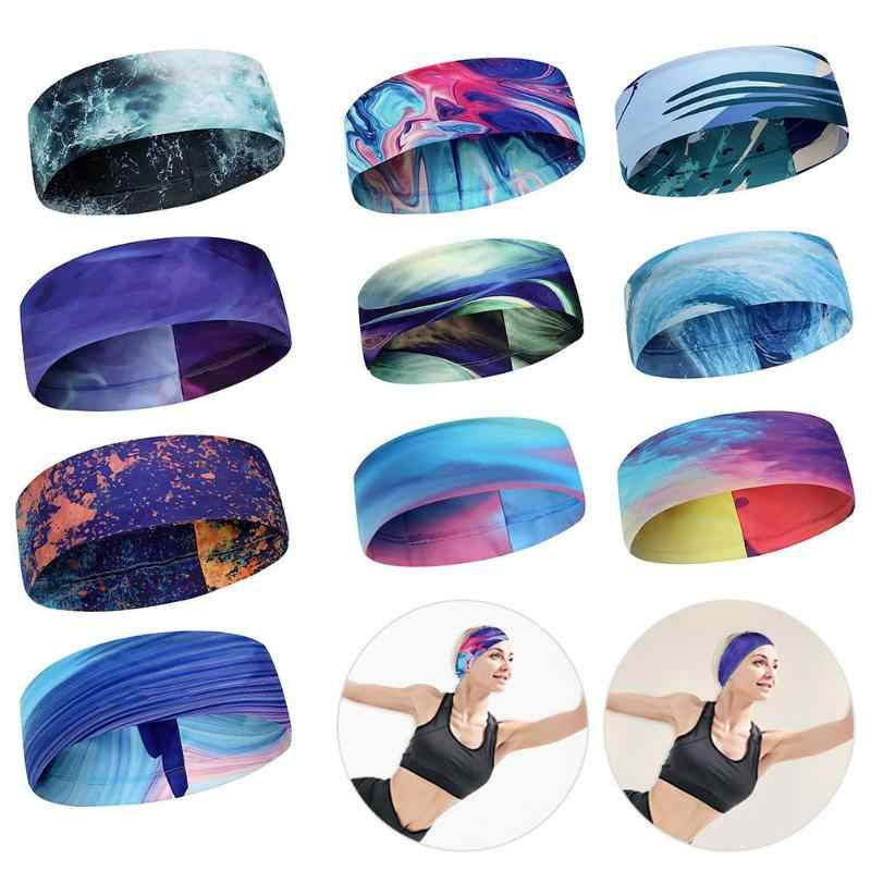 Women Men Fitness Running Sweatband Hair Bands Elastic Absorbent Sweat Cycling Yoga Sport Headband