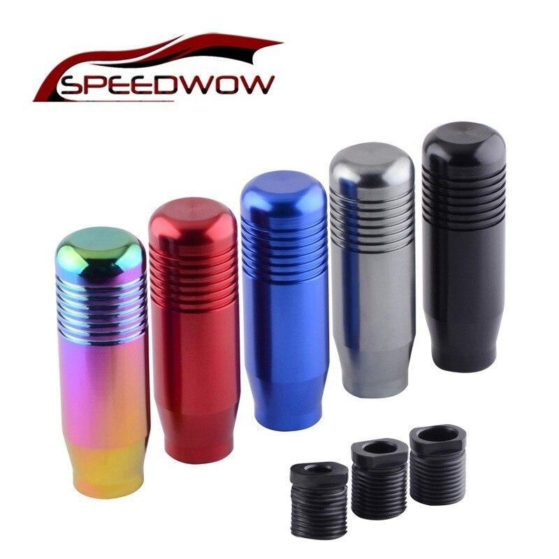 Speedwow estilo do carro de alumínio botão do deslocamento de engrenagem para honda acura accord civic transmissão manual shifter alavanca engrenagem m10x1.5