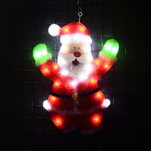 24V Christmas dancing Santa clause EVA festival lights - 22 in. Tall luces de navidad holiday motif light room decor