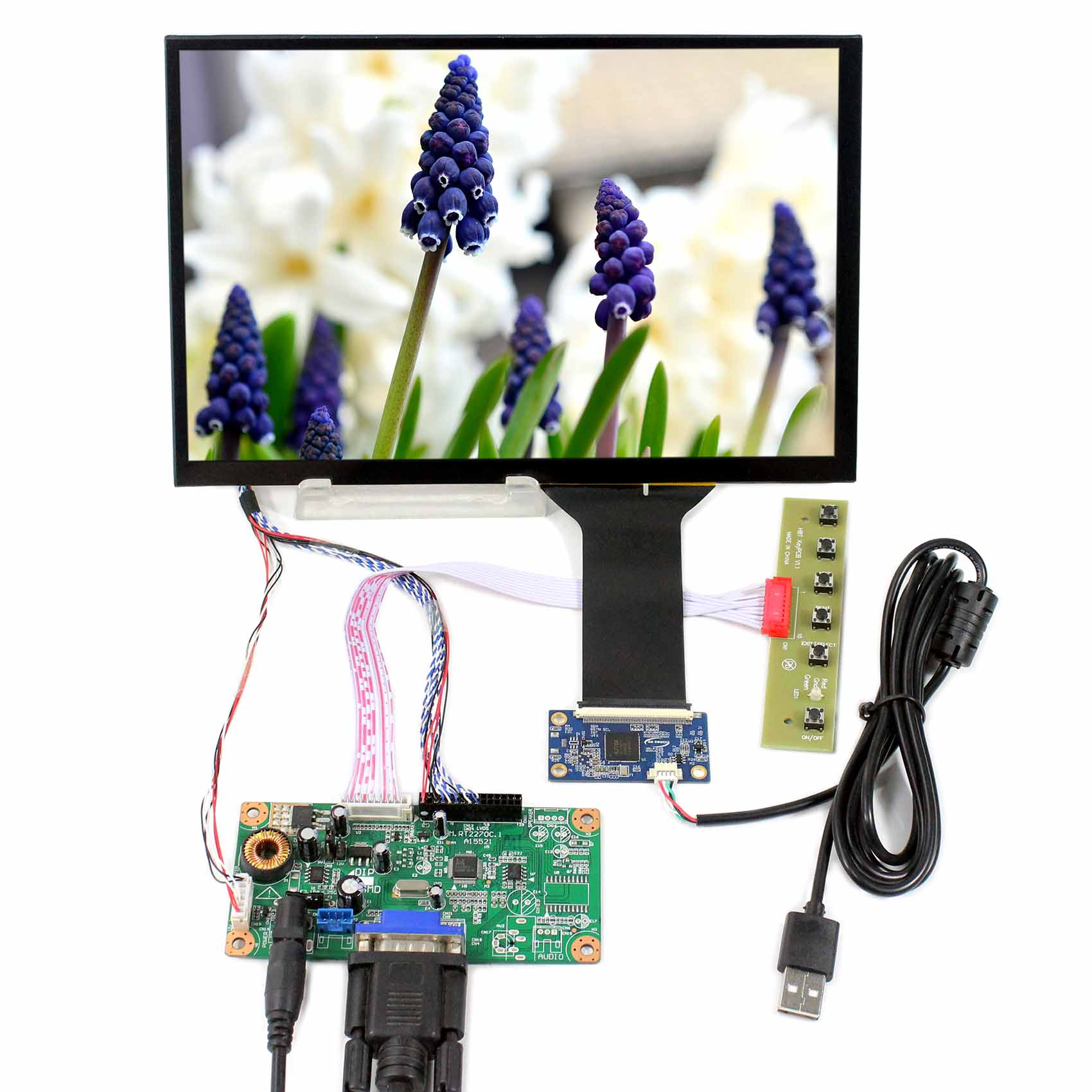 VGA LCD Board Work with 10.1 M101NWWB R6  1280X800 LCD Screen and 10.1inch Capacitive Touch PanelVGA LCD Board Work with 10.1 M101NWWB R6  1280X800 LCD Screen and 10.1inch Capacitive Touch Panel