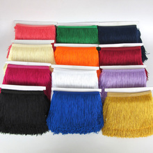 10 Meters 15cm Fringes Tassels Trimmings Fabric For Curtain DIY Fringe Sewing Latin Lace Trim Tassel Ribbon Dress