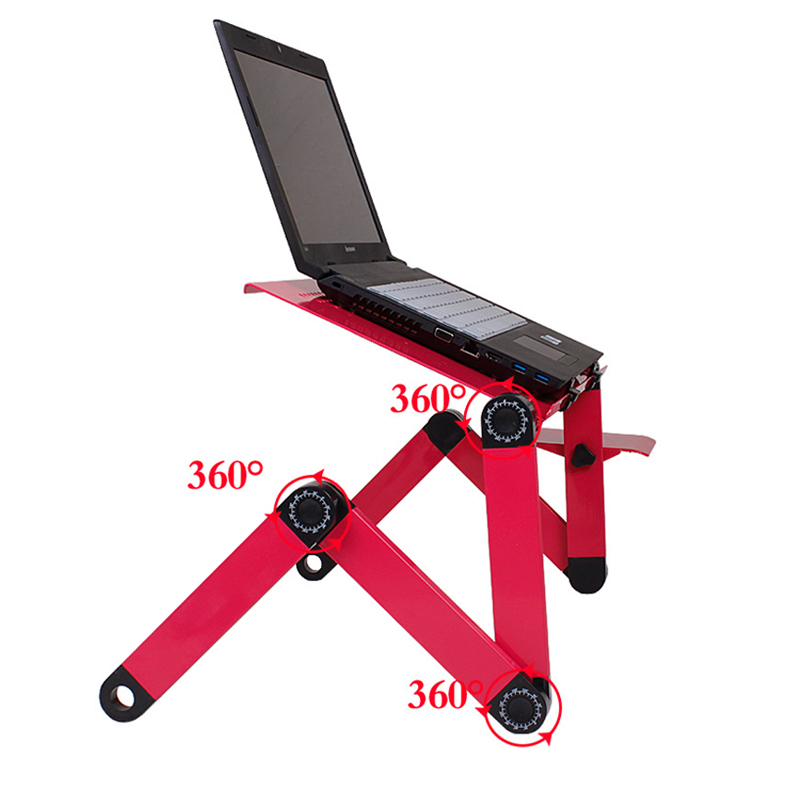 Adjustable Foldable Computer Desks And Vented Laptop Stand For Notebook Laptops