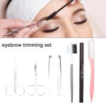 Eyebrow Tool Set Female Shaping Knife Tweezer Scissors Portable Durable Stainless Steel Beauty Care Tools