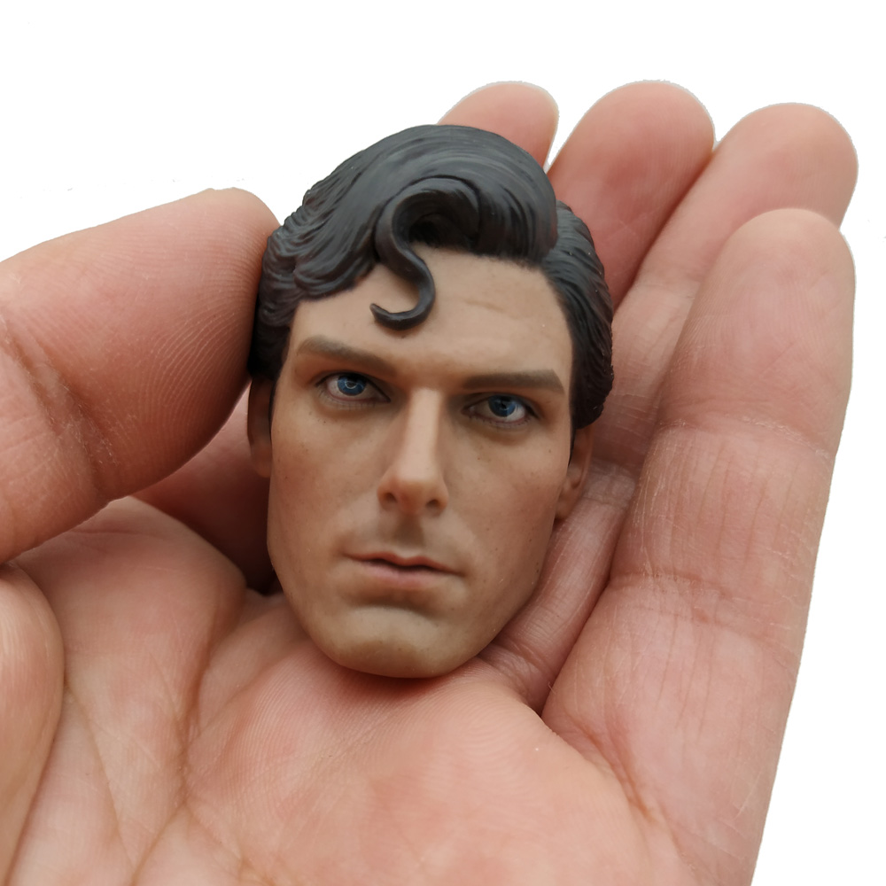 1/6 Scale Superman Head Sculpt Christopher Head Carved For 12