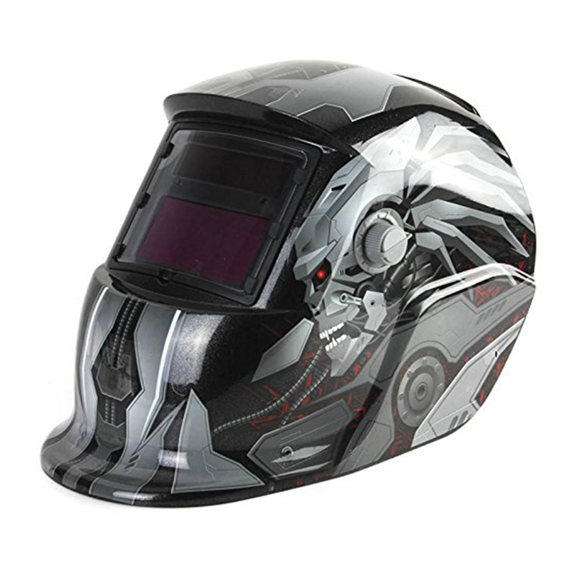 HHO-Welding Mask Hood Solar Automatic Welding Helmet (Solar Power For Recharge) Face Protection (robot)