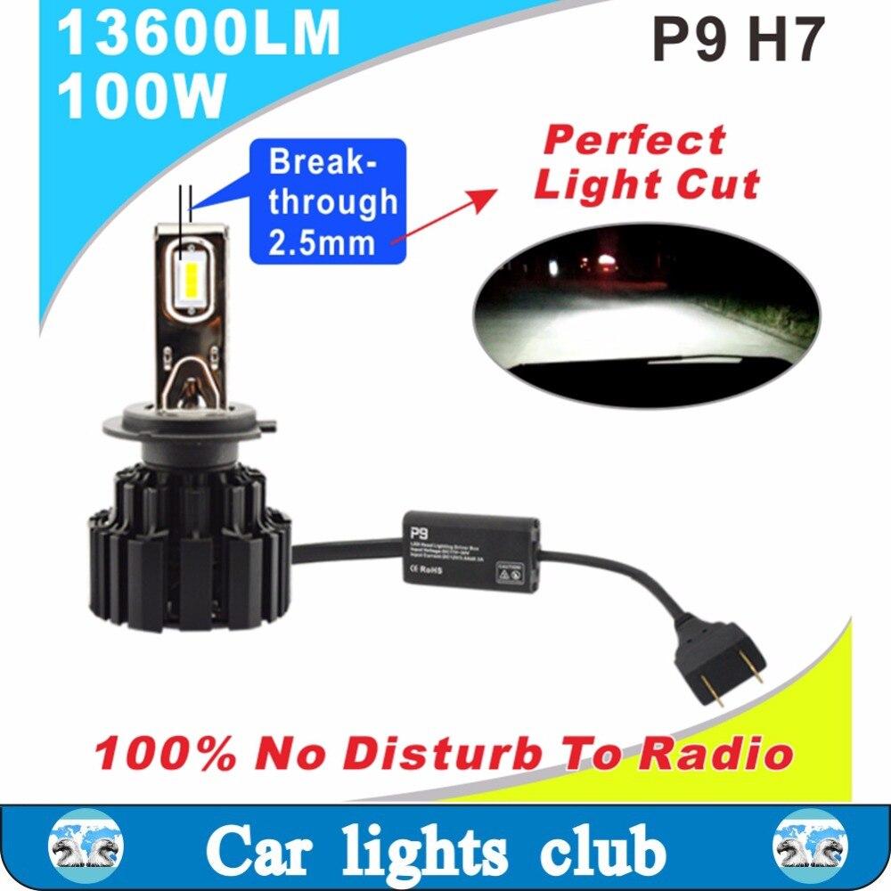 Les plus brillants H1, H3, H7, 9012, H8/H9/H11/H16 (JP), 9005/HB3/H10, 9006/HB4, h4 H13 9004 9007 H15 a mené le phare automatique dans le CLUB d'art de voiture