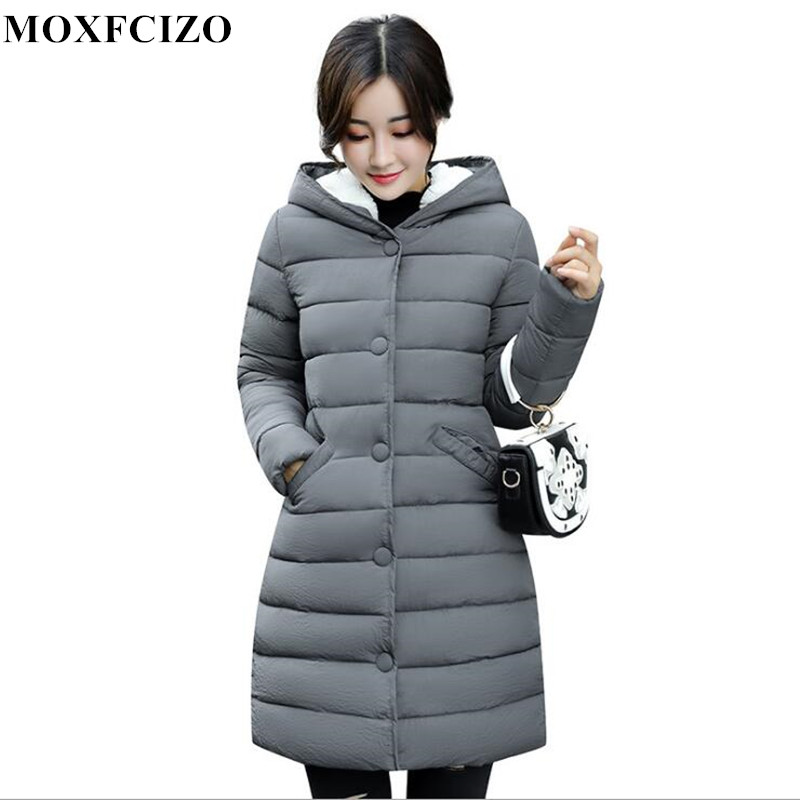 2017 winter jacket women Hooded Coat girls long slim jacket padded coat thick down Korean winter down parka women thick coat
