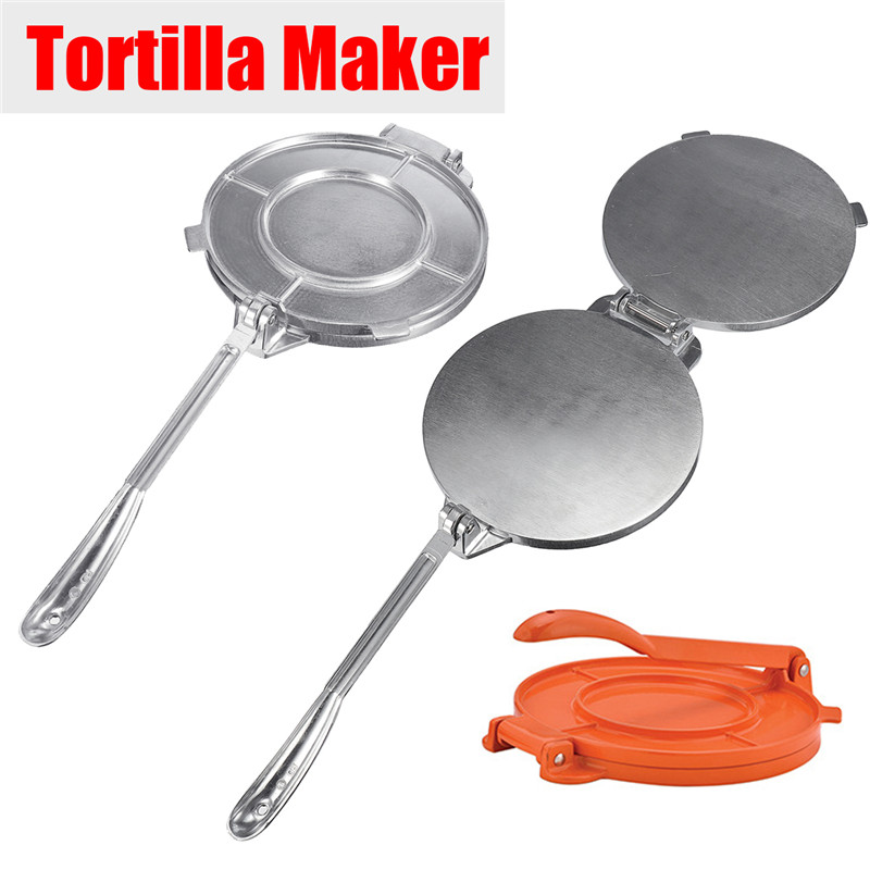 2 Colors Tortilla Maker Press Pan Heavy   Restaurant Commercial Aluminium Tortilla Pie Maker Press Tool Home Appliance Part
