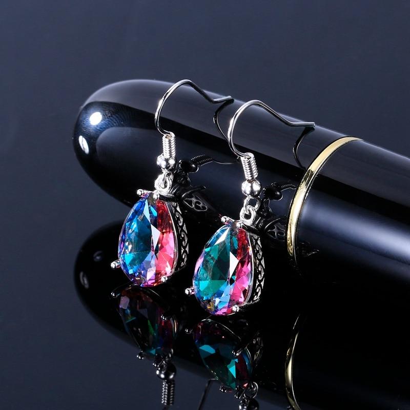769f2bfa235 925 Sterling Silver Drop Earrings for Women 10x14MM Water Drop Topaz  Gemstone Wedding Earrings With Stones Fashion Jewelry Gifts
