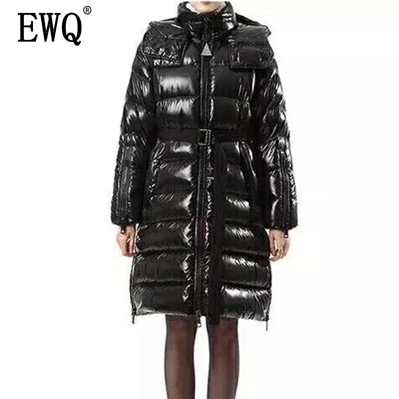 Manteau Femmes Zipper 2019 Printemps Manches Mince Noir Coton Col ewq Longues Capuche Femelle Marée Ourlet Black Mode Vêtements Nouveau Lâche Oe314 8a4x5tn