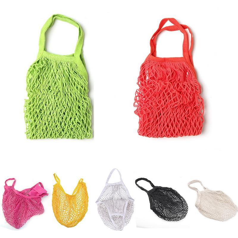 Luggage & Bags Functional Bags 2018 Hot New Women Cotton Mesh Net Single-shoulder Bag Durable Lightweight Shopping Bag Kids Toy Fruit Storage Beach Handbag Soft And Antislippery