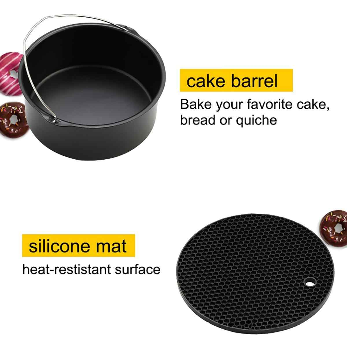 -Высокое качество воздуха фритюрница Аксессуары 8 дюймов для Gowise Phillips Cozyna и Secura, набор из 7 сковорода Для Выпечки Пиццы подходит всем 5,2 ~ 5.8QT