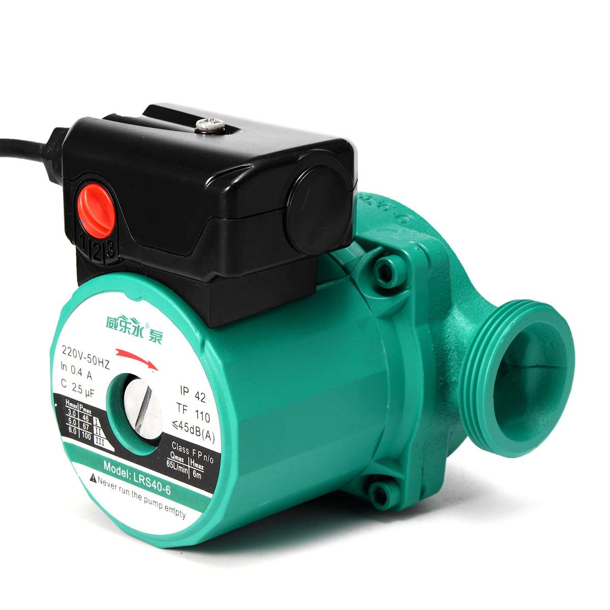 220V 100W Indoor Hot Water Air Heating Circulator Boiler Pump Switch Heating System Circulation Pumps Accessories