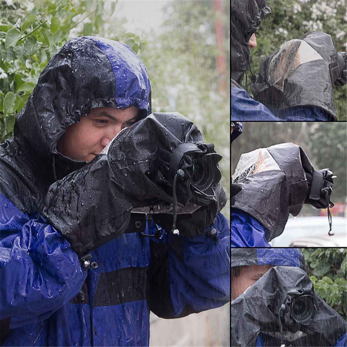 Waterproof Case Nylon Rain Cover Photo Photography Accessories Protection Cover For DSLR Camera Outdoors Shooting Gear Kit