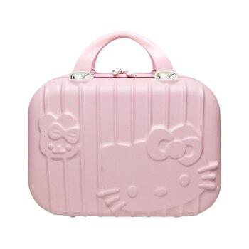 8fd0ca67a De dibujos animados Hello Kitty bolso cosmético caja de maquillaje  cremallera belleza lavado portátil señora neceser de viaje maleta  organizador Accesorios