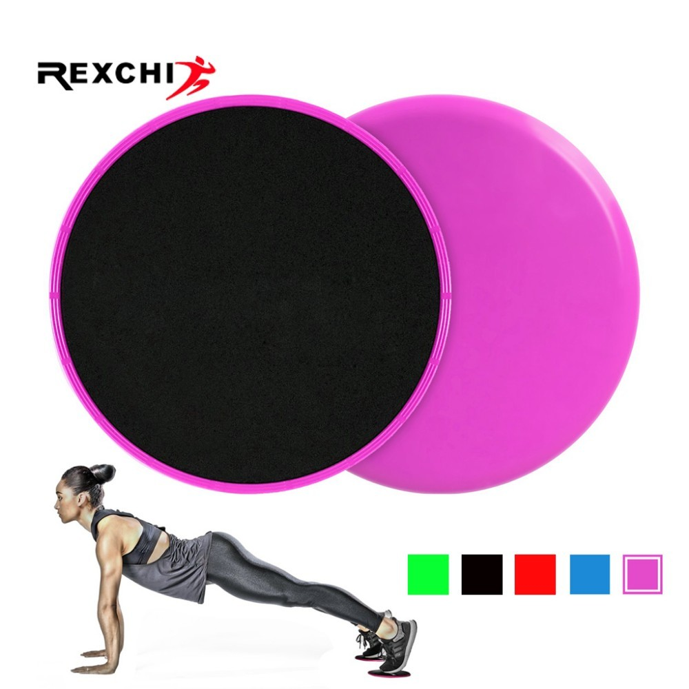 REXCHI 1 Set Core Sliders Gym Fitness Equipment Dual Sided Use On Carpet Hardwood Floors Abdominal Exercise Workout Accessories