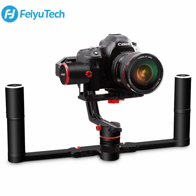 <font><b>FeiyuTech</b></font> <font><b>A2000</b></font> 3 Axis <font><b>Gimbal</b></font> DSLR Camera Stabilizer Dual Handheld Grip For Canon 5D SONY Nikon 2000g Payload Bluetooth With Bag image