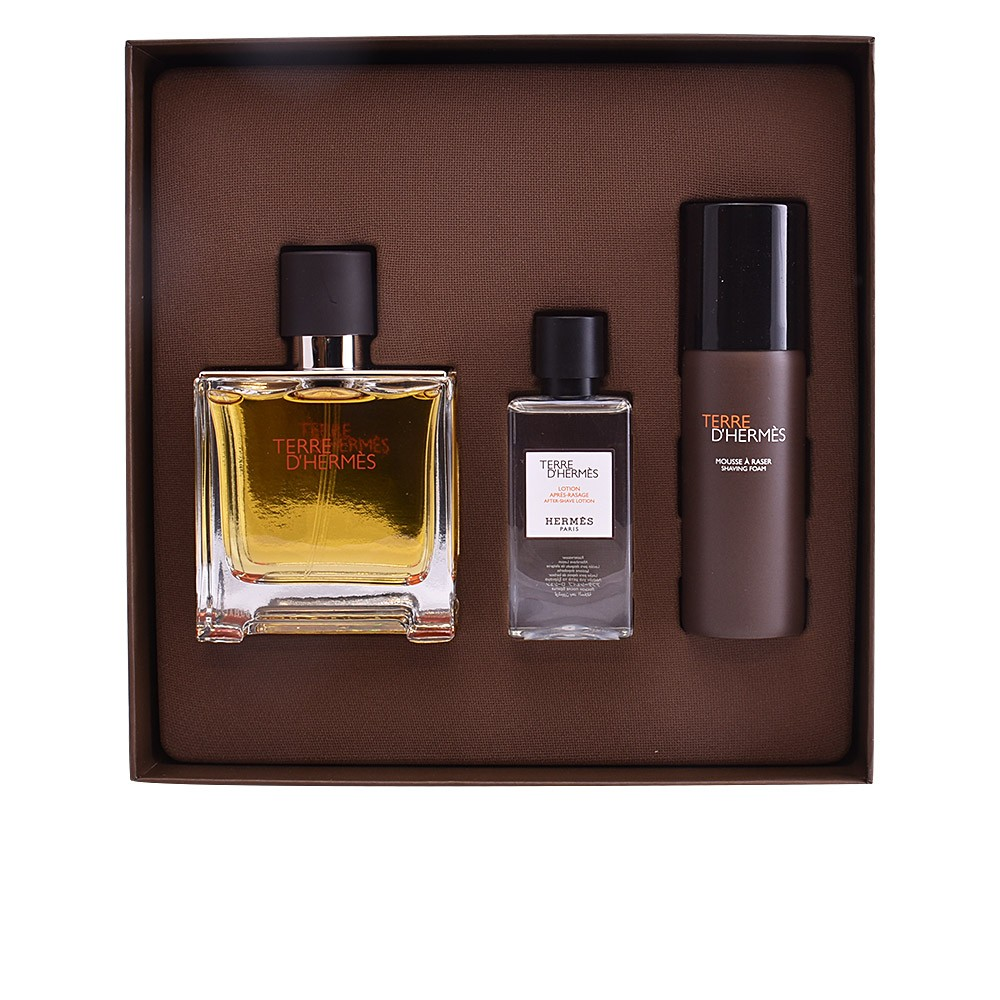 TERRE D HERMES PURE EDP 75ML + ESPUMA AFEITADO 50ML + LOCION AFTER SHAVE 40ML