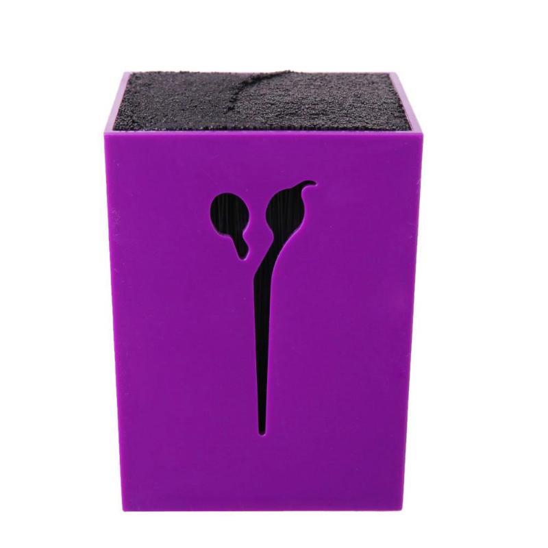 Hair Scissor Stand Case Acrylic Salon Pet Groomer Hair Clips Storage Box Pot Hairdressing Tools Scissors Holder Stand Kit