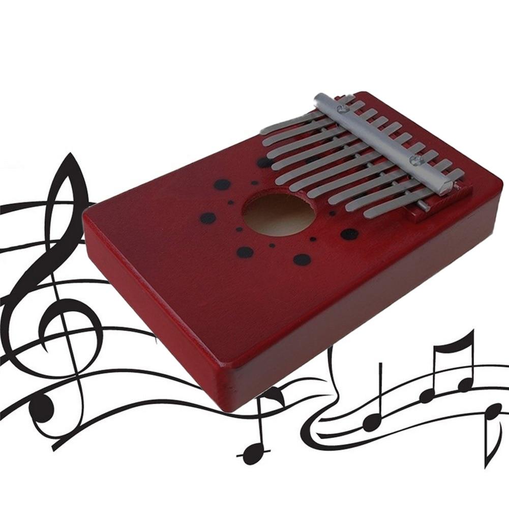 Kalimba Etiqueta Pulgar Teclas Tono 10 Caoba Con Juguete De Piano Mbira Tablero Individual VpUzMqS