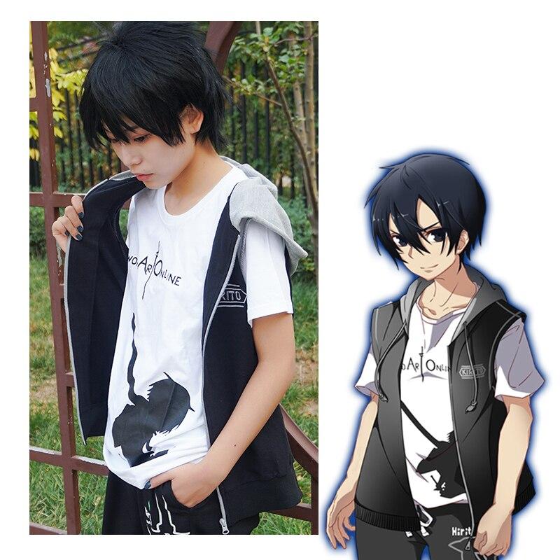 Milky Way Anime Sword Art Online Alicization Kirigaya Kazuto Cosplay Vest Eugeo Synthesis Tops Waistcoat With Hat