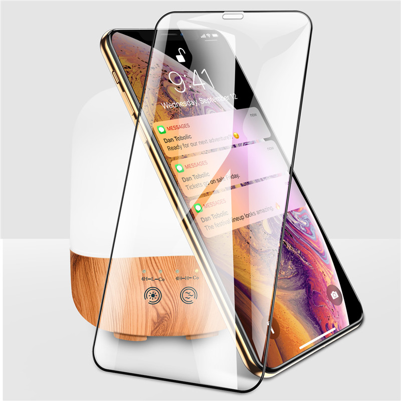 Ottwn 10D Full Cover Tempered Glass Protective On For iPhone 6 6S 7 Plus XS Max XR X 8 Screen Protector