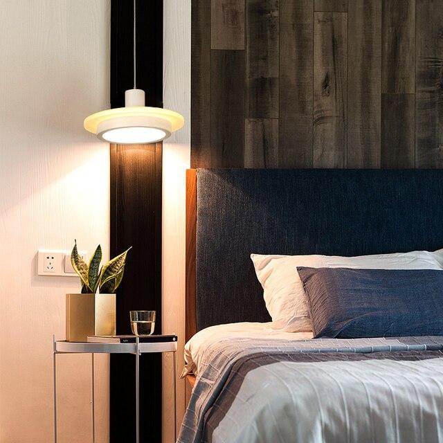 Pour Lampe À Led Plafond Chevet Pendentif Cuisine Suspension Lumières Salle Lustre Simple Chambre Manger Moderne Suspendus 4j5ALR