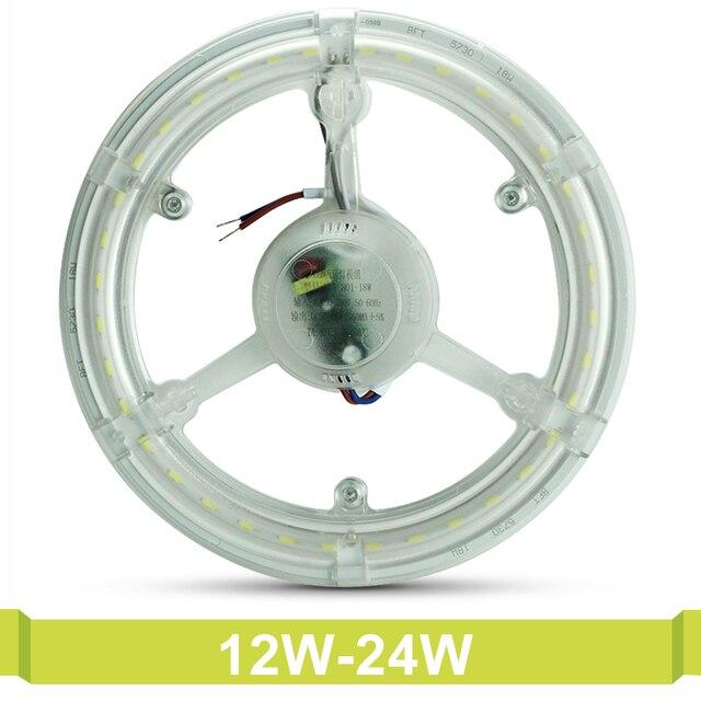 12W 18W 24W Tube Retrofit Magnet PCB Board CFL Replace Led Ring Lighting SMD 5730 LED Ceiling Lamp AC 220V Module Light Bulb