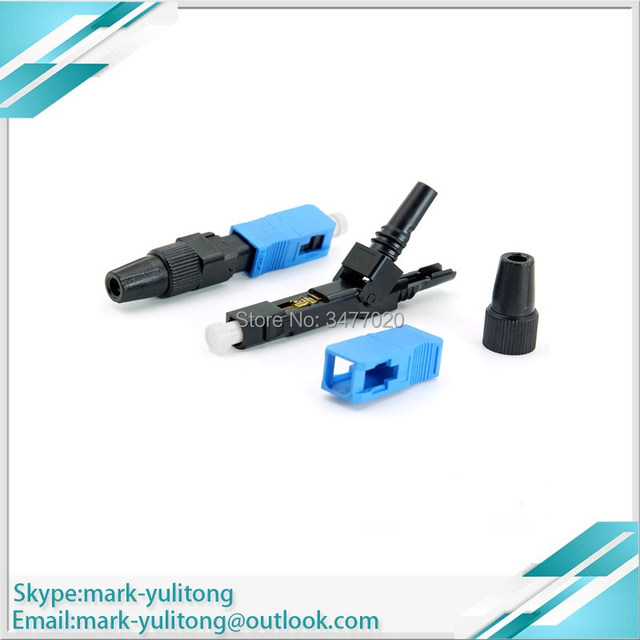 20 pcs .fibre optique ftth fiber optic SC UPC  Quick connector SC ftth fiber optic connector sc fast connector optical fiber