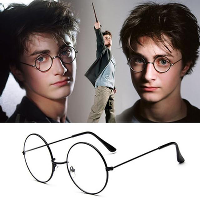 fd402b2522d Round Glass Frame for Harry potter Metal Frame Clear Lens Circle Spectacle Eye  Glasses Women Men Optical Eyewear Female Nerd