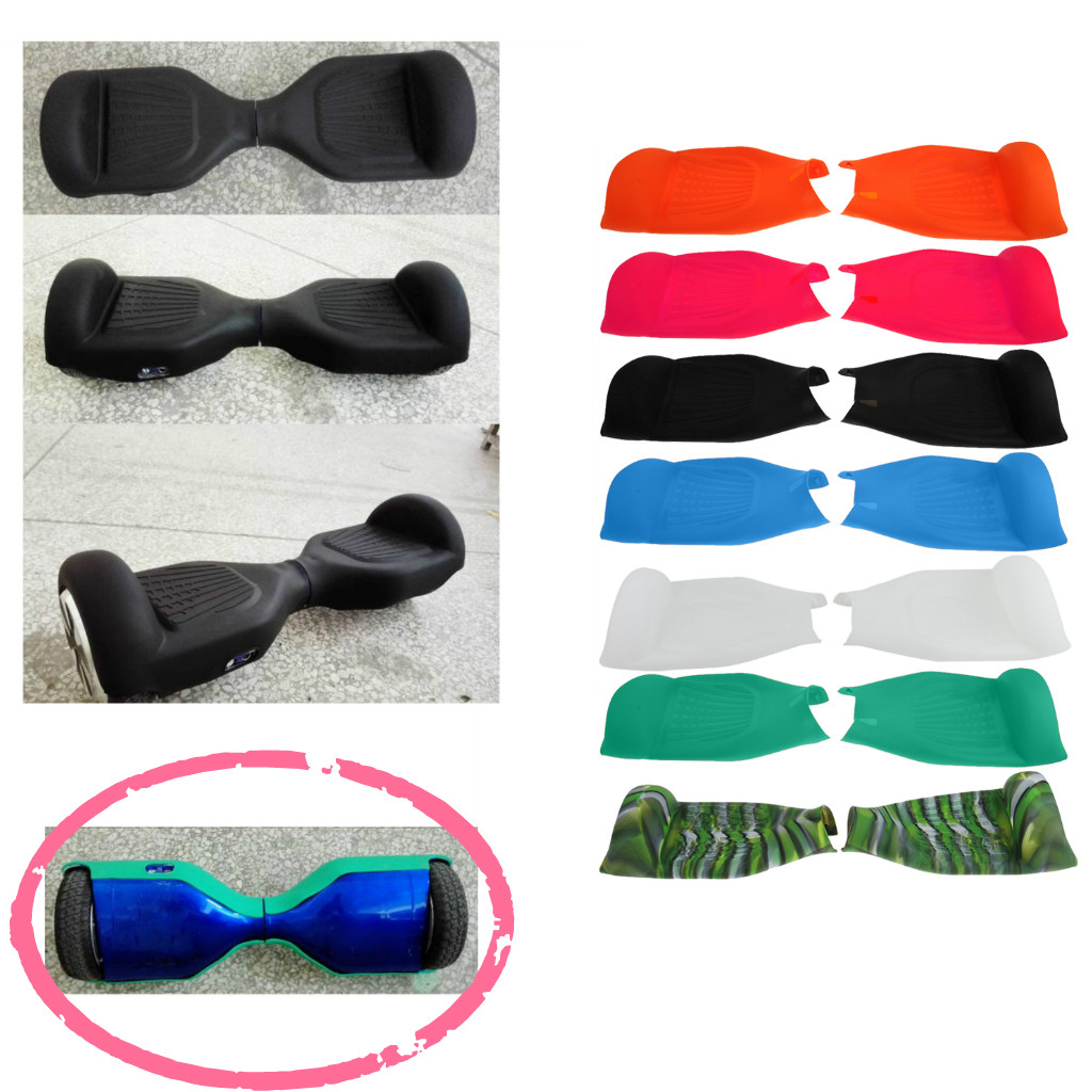 Silicone Soft Flexible Case Half Cover Scratch Protector For  6.5' Self High Quality Balancing Scooter Cover Protective Skin