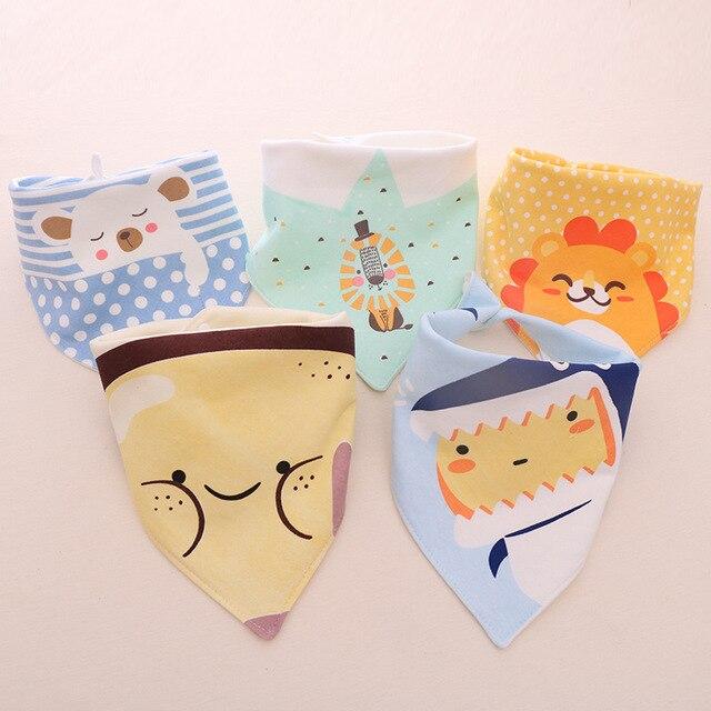 Baby Kids Cotton Bandana Drool Bibs Feeding Saliva Towel Fashion Baby Bibs Burp Cloths Printed Dribble Triangle Waterproof Bibs