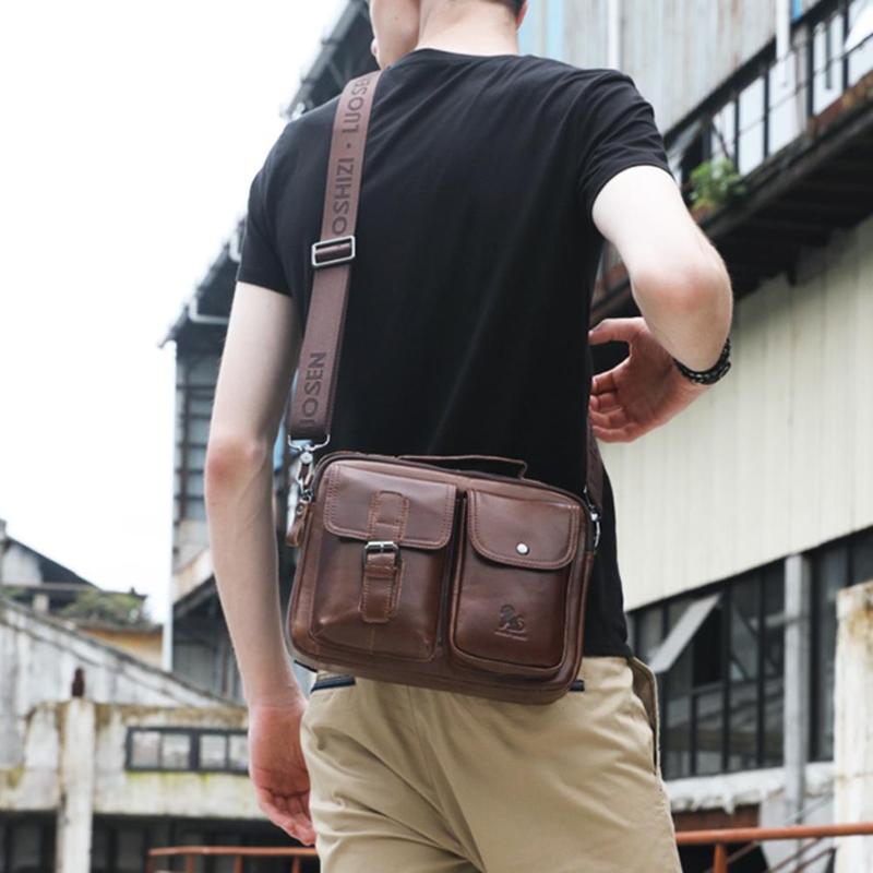 Image 5 - Men Business Briefcase Vintage Genuine Leather Laptop Messenger  Bag Cowhide Big Capacity Tote Office Handbag Men BriefcaseBriefcases