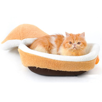 Warm Pet Beds with Removable Lid for Comfortable Sleeping of Cats and Dogs Made of Cotton