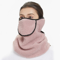Любителей плюшевые зимние лицевая маска для мужчин женщин теплые уха средства ухода за кожей шеи воротник уход за кожей лица маска дышащий ...