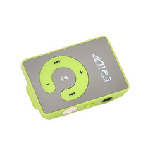 1 PCS MP3 Player  Clip TF Card Mirror MP3 Player Waterproof Digital C Button Portable Mini Music Sports 45X28X12mm portable media player