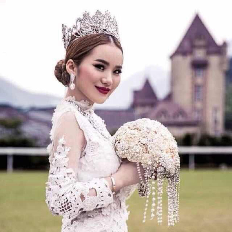 Luxury Full Round Big Princess Crown for Wedding Tiara Bride Silver Hair Jewelry Birthday Bridal Beauty Queen Crowns Accessories
