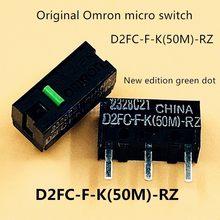 4 unidades/pacote original omron D2FC-F-K(50 m)-rz mouse micro interruptor botões do mouse ponto verde mais de 50 milhões clique vida
