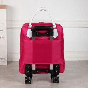 Image 5 - עמיד למים גבוהה Oapacity נסיעות תיק עבה סגנון מתגלגל מזוודת ליידי גברים טיול שקיות מזוודה עם גלגלים Suplies