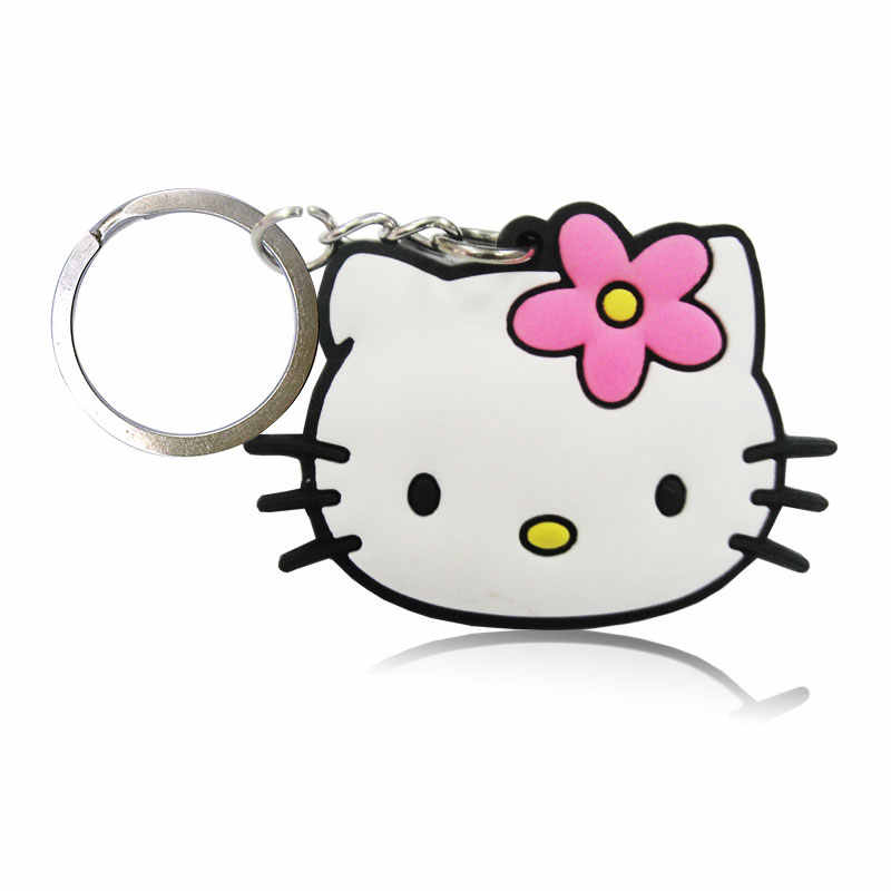 20 pçs/lote Anime Dos Desenhos Animados Olá Kitty PVC Encantos Keyring Favores Do Partido Caçoa o Presente Chave Cobre Saco Correias Acessórios Jóias