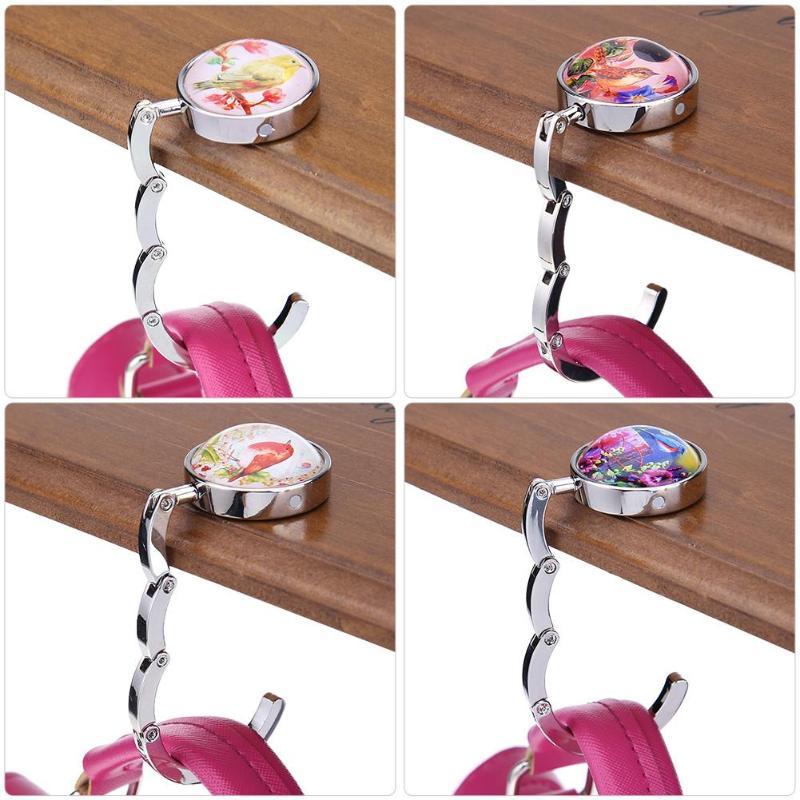 Banana Fruit Line Drawing Illustration Table Hook Folding Bag Desk Hanger Foldable Holder
