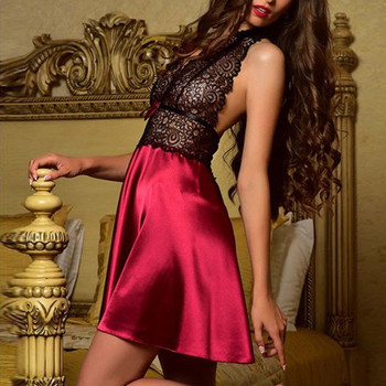 1d9804f1ccb0 Product Offer. Для женщин сексуальное женское белье атласное кружевное  ночное белье Babydoll ночная рубашка пижамы платье кружево пикантное нижнее  ...