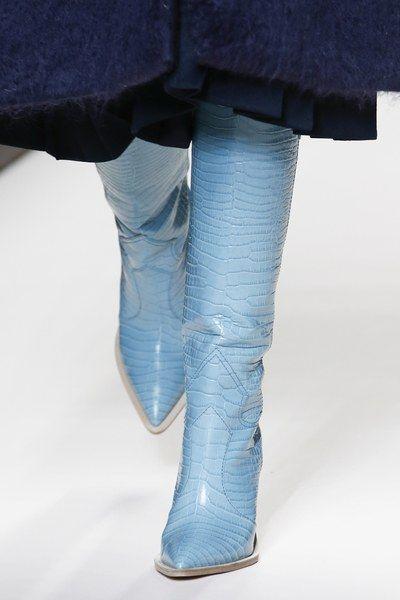 Bottes Show Show Femmes Coins Bout Western En Hautes as Piste Cuir Pointu Cowboy 2019 Talons Bleu Bois Véritable As Customzied xIgqwCn