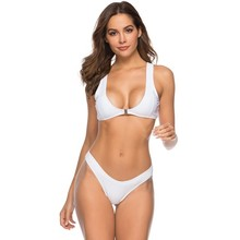 White Thong Bikini Set Women Push Up Swimwear Female High Cut Swimsuit Two Piece Low Waist Bathing Suit Swimming Suit For Women high waist swimsuit solid color bikini push up swimwear women two piece separates swimming suit for women sexy bikini set