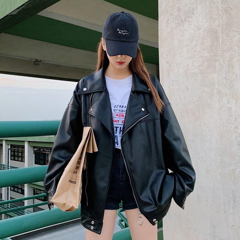 2019 frühling Trend Koreanische Version Der Campus Lange ärmeln Männer Lose Feste Farbe Kleine Frische Leder Zipper casual Jacke-in Kunstpelzmäntel aus Herrenbekleidung bei  Gruppe 2